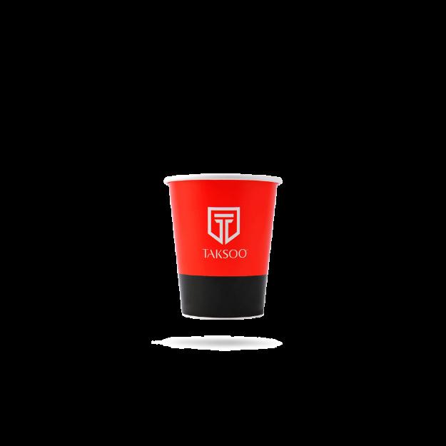 تصویر از لیوان کاغذی با لوگو تکسو